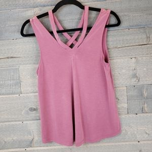 AEO Soft & Sexy Sueded Strappy Tank Top Purple